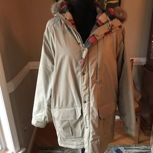Woolrich Plaid Flannel Tan Coat